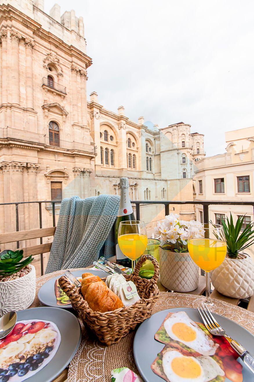 Malaga apartamento vista a la catedral
